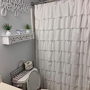 cute ruffle shower curtain