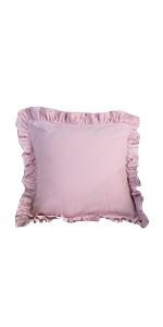 pink linen pillow throw