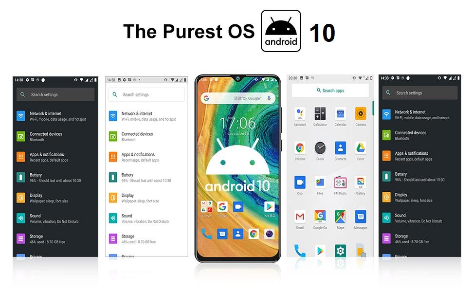 dual sim unlocked smartphones android 10 8gb ram phone 5g phones unlocked international  big screen