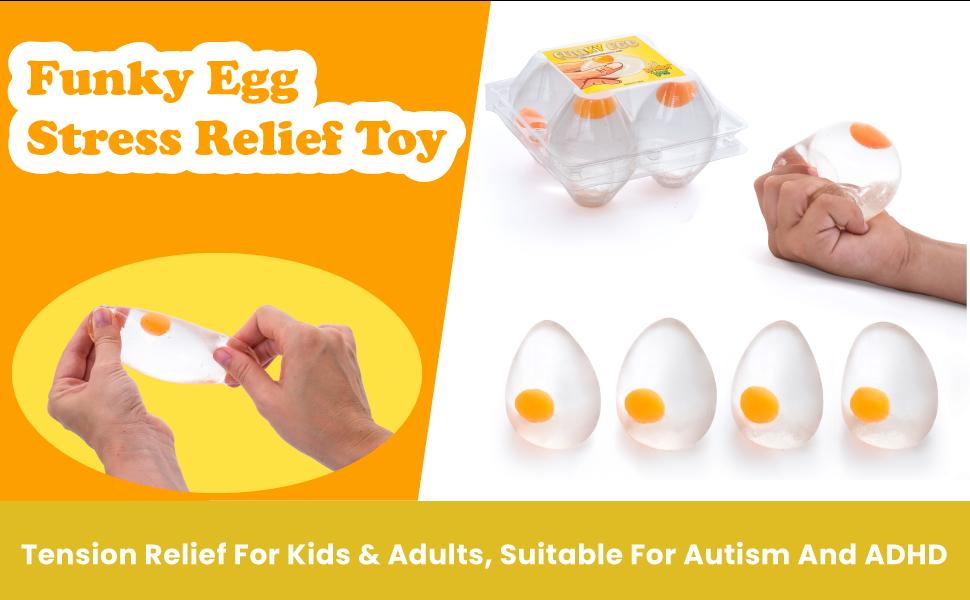 Funky Egg Splat Ball Squishy Toys