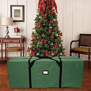 Albero di Natale Artificiale Impermeabile Organizer per ghirlande e Regali /æ/— Borsa portaoggetti per Albero di Natale Manici rinforzati con Cerniera