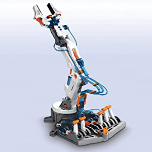 hydraulic robot arm made up of 229 pieces