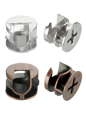 12 Pcs Furniture Connecter Cam Lock Fittings 14.7mm x 11.4mm for Cabinet Drawer Dresser and Wardrobe Furniture Panel Connecting