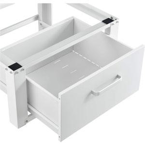 Socle avec Tiroir pour Machine à Laver Support Lave-Linges Sèche-Linge Standard Pieds Antidérapants