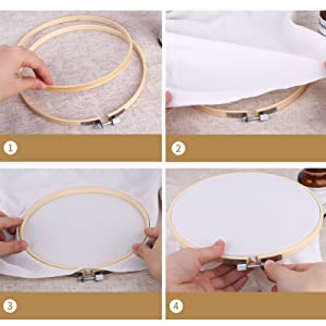 How to use large embroidery ring 8 inch