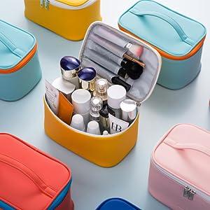 2Makeup bag purse pouch cosmetic bag beauty travel toiletry small women 3 pcs