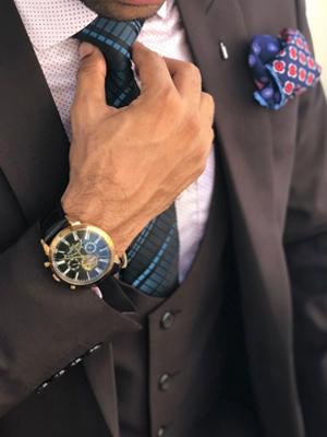 men vest and tie set