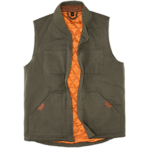 Men's washed canvas Duck Insulated Vest