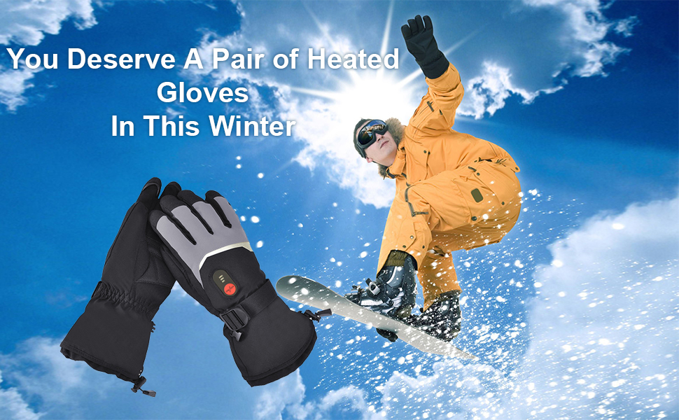 Heated Gloves for Men Women Rechargeable