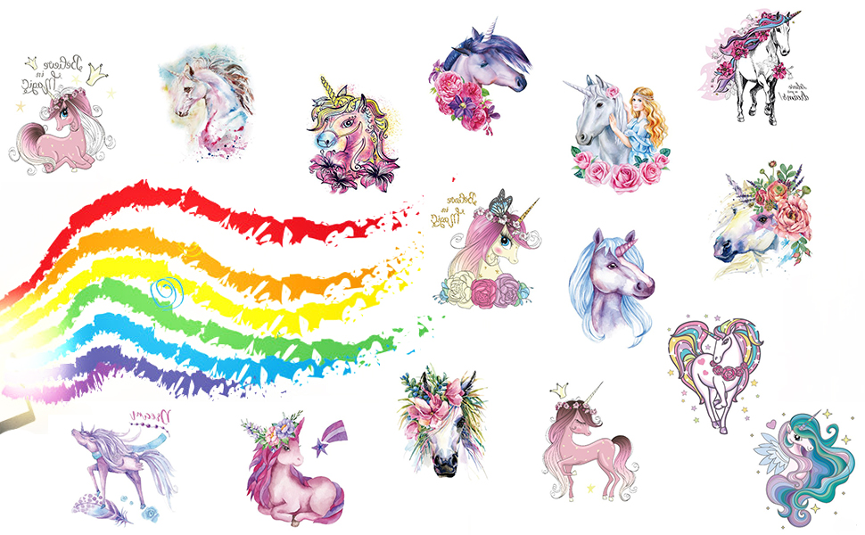 Fanoshon Child Unicorn Tattoo Sticker 02