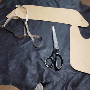 traditional leather cutting bespoke hand made real genuine leather sheepskin lambskin nappa napa
