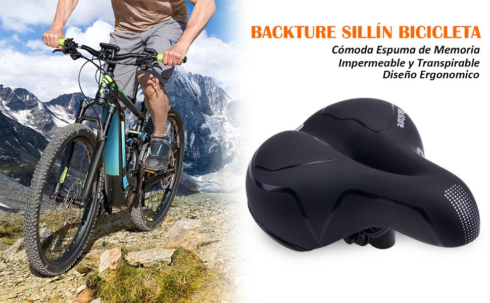 BACKTURE Sillín Bicicleta, Asiento de Bicicleta de Gel ...