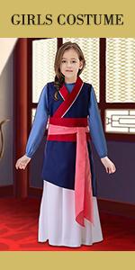 Chinese princess mulan costume