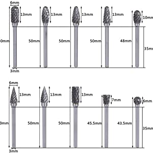 steel grinder bits, carbide engraver, rotary bur, dremmel engraver, drill bit dremel, cutting burs