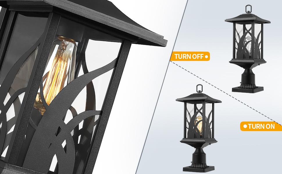 outdoor post light exterior pillar light outside pier mount lantern pole lamp deck post lighting