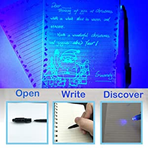 invisible ink with uv light pen