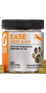 Ease Joint And Hip 90 Count Chews for Dogs Health with Vitamins and Protein-Calm the Mind