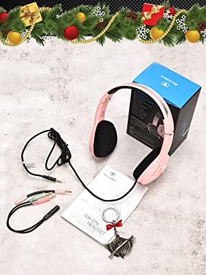 Pink Gaming Headset for Girl, Women, Kids,