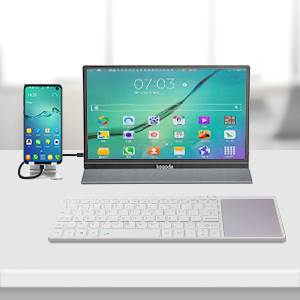 Turn Android Phone to a Computer  13.3″ Portable Monitor, Kogoda FHD 1080P USB Computer Display Eye Care Gaming Monitor External Secondary Display with IPS Panel, HDMI, Type-C, Dual Speakers for PC Laptop Mac Phone PS4 Xbox (Gray) d7d2d795 9d6d 4340 91f5 8bf2016bd8f0