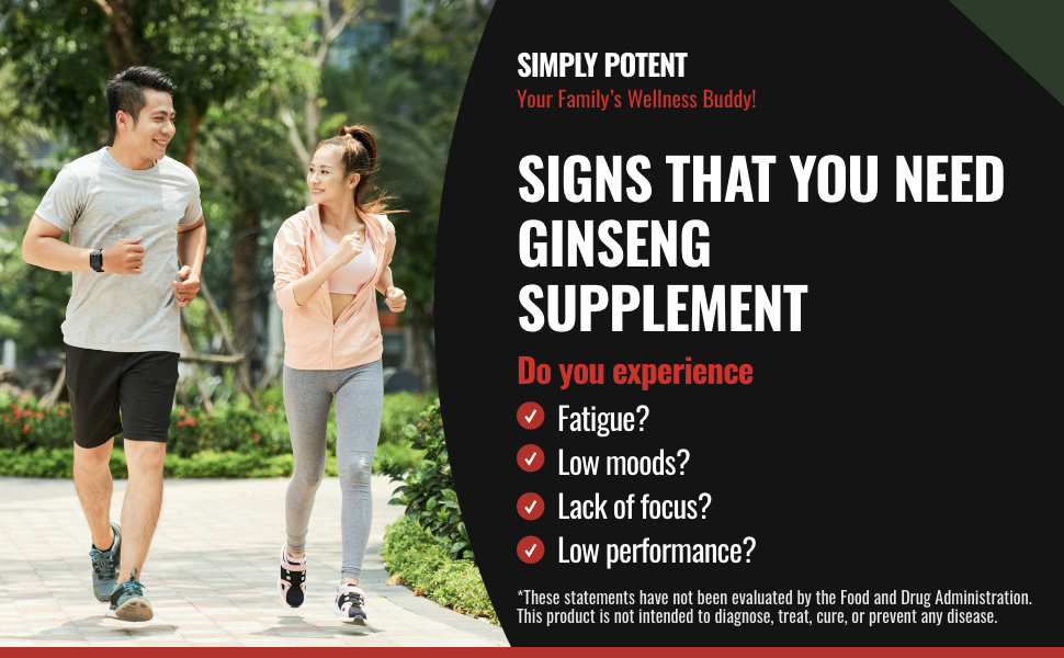 Simply Potent Panax Ginseng, Korean Red Ginseng