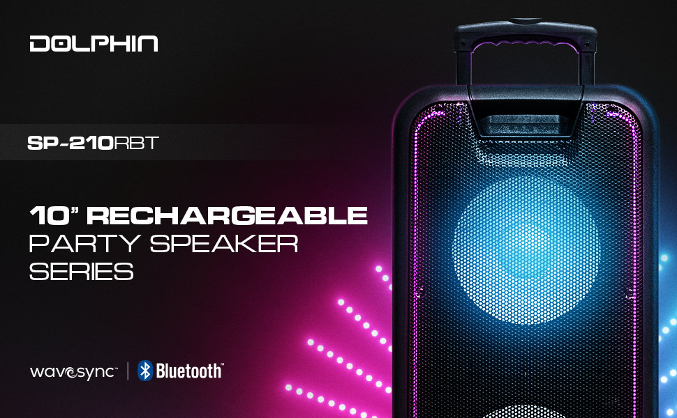 PartyBox, Party Speaker, Tailgate Speaker, Rechargeable Speaker, Speaker with Lights, Portable