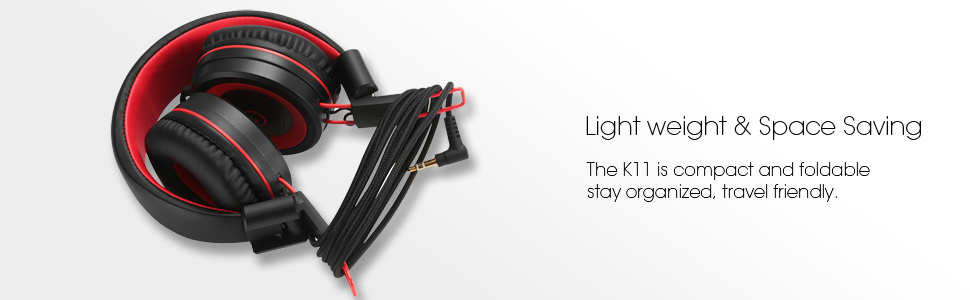 noot products k12 kids headphones black red