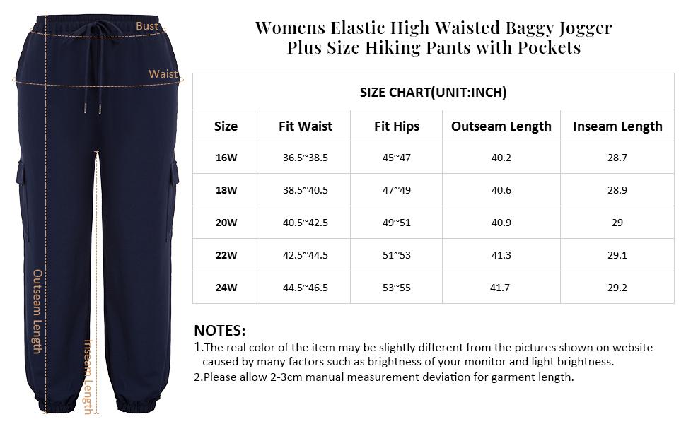 jogger pants for women plus size