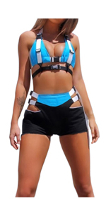 2 Piece Buckle Outfits Sets