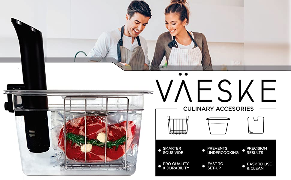 sous vide container with lid and rack kit accessories tub set