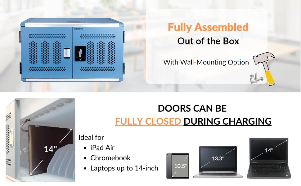 POCHAR-16unitChargingCabinetForLaptopsAndTablets