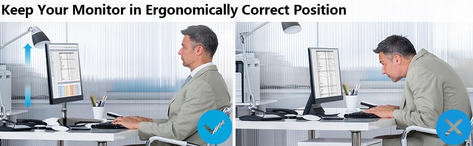 Ergonomic Design Computor Monitor Stand