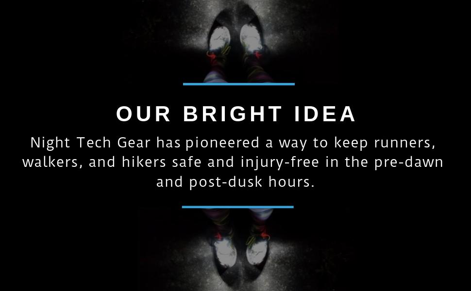 night tech gear running at night