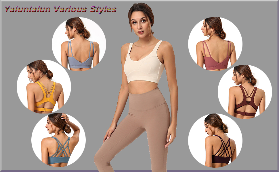 Yaluntalun Womens Racerback Sport Bra Seamless High Impact Support for Yoga Workout Running with Zip Front