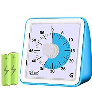 Visual Timer for Kids Countdown Ticking Clock Quiet Analog Keeper Timer Classroom Teaching Gift