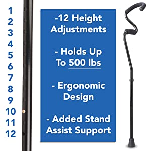 StrongArm Cane 12 height adjustments