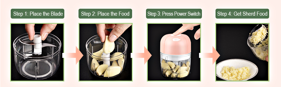 simply and easily chopper mincer grinder crusher for garlic onion fruits baby food