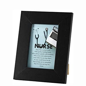 Amazon Com Dicksons Nurse S Prayer Black 4 X 6 Inch Resin Stone Easel Back Photo Frame