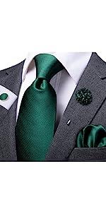 Dark Green Tie Set