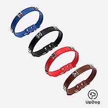UPDOG Universale Media e Grande Cintura di Sicurezza per Cani di Taglia Piccola con Cinghia di Sicurezza Regolabile Nero Blu e Rosso. Omologata