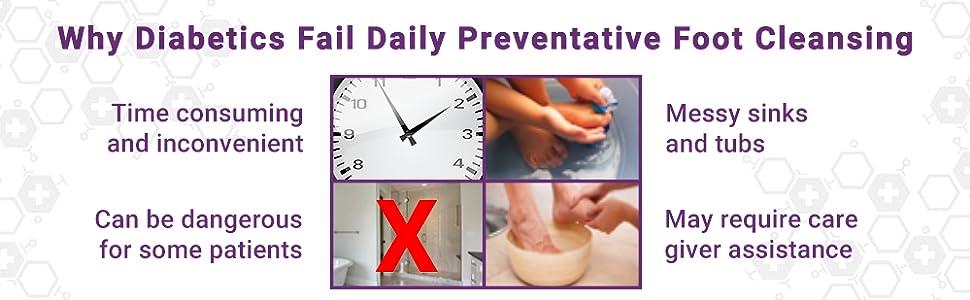 skinsmart foot cleansing diabetic preventative daily use