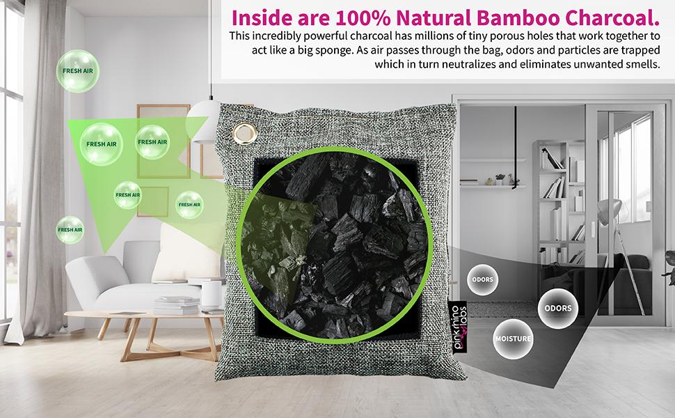100% Natural Bamboo Charcoal