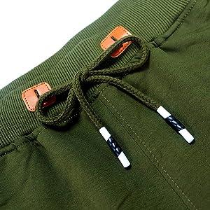 Shorts men's drawstring adjust waist