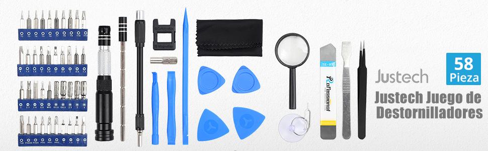 Justech 58 en 1 Kit de Destornilladores de Precisión Magnetic ...