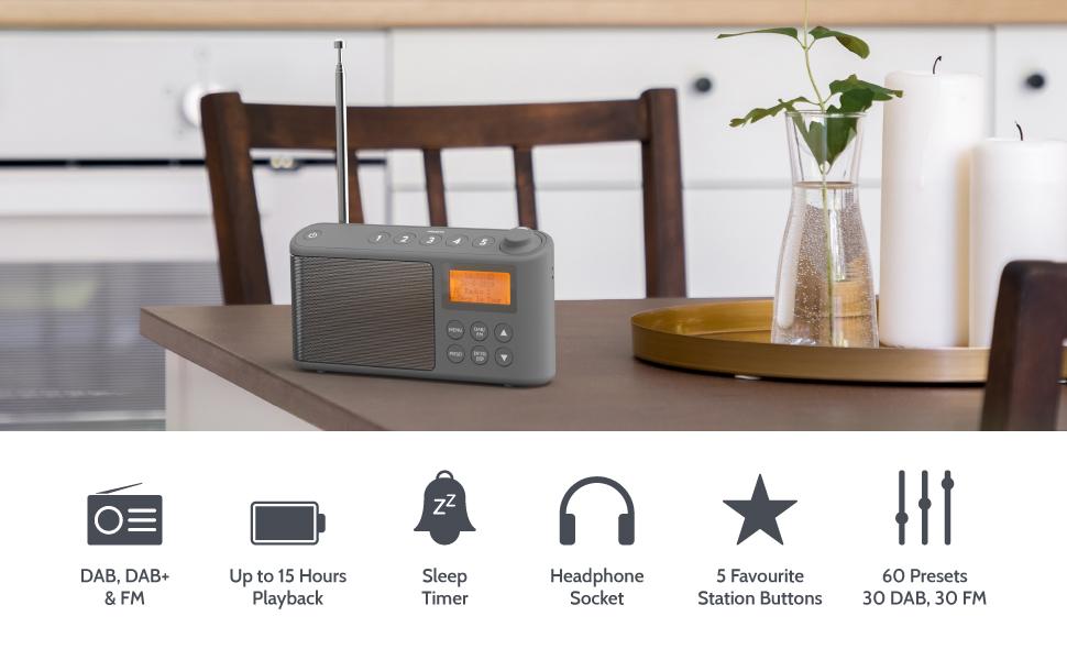 Spectrum DAB/DAB+/FM Portable Radio - Black