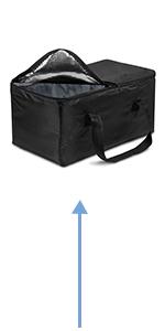 achilles Big-Box Cool con inserto de refrigeraci/ón Caja de compras Caja de transporte Caja plegable Cesta plegable Bolsa de refrigeraci/ón Inserto de refrigeraci/ón Bolsa t/érmica Caja aislante Transporte de alimentos negro 61,5 cm