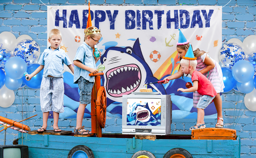 shark party decorations