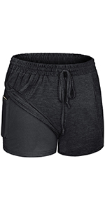 Women 2 in 1 Workout Shorts