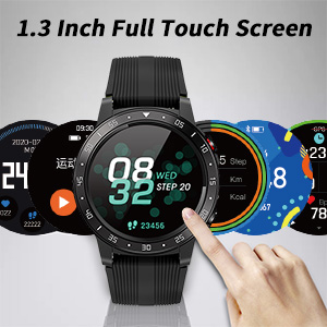 full touch screen smart watch with shutter