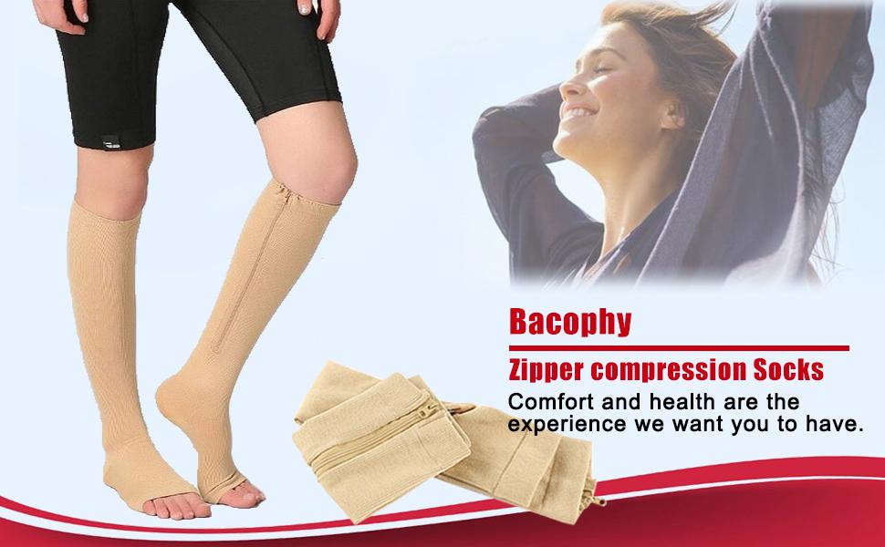Bacophy Zipper Compression Socks