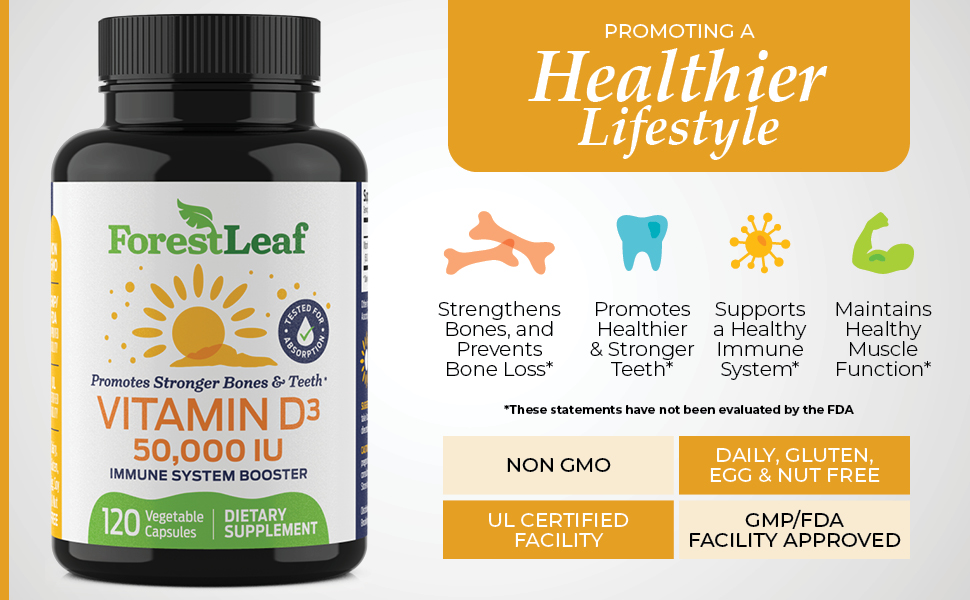 vitamin d3 50,000 iu healthy immune muscle health for bones